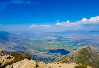 Aerial View of Carson Valley from top of Jobs Peak