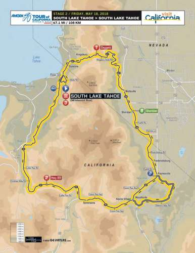 Amgen Tour of California Women's Stage 2 Race Route